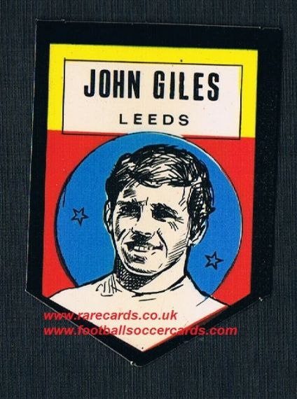 1972 BAB unused Shooting Stars Leeds United Johnny Giles with backing paper